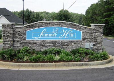 Summer Hill - Monument Sign